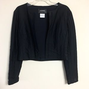 CHANEL Identification   Quilted Open Front Jacket